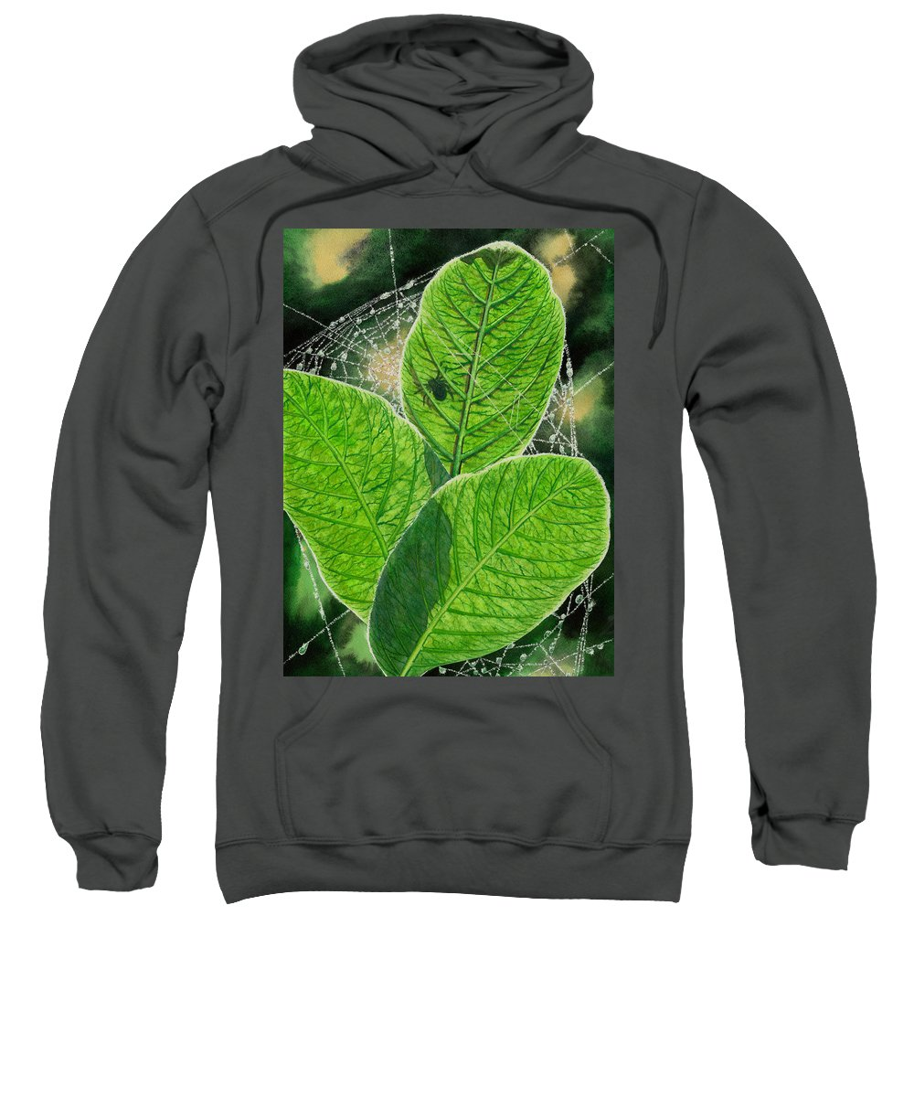 Spider Sweatshirt featuring the painting Green by Catherine G McElroy