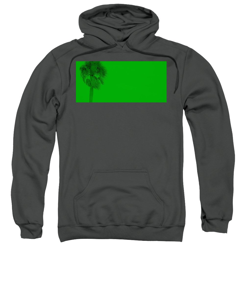 Landscape Sweatshirt featuring the photograph Green Palm by Ed Smith