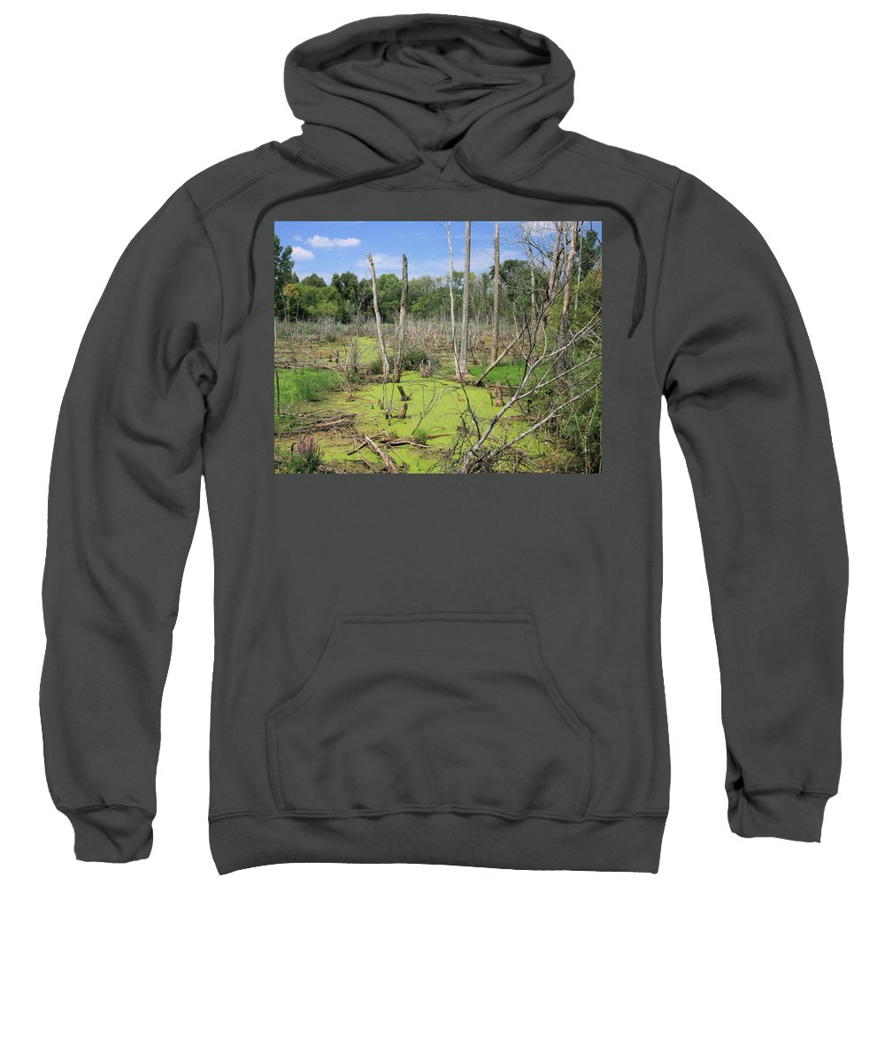 Landscape Sweatshirt featuring the photograph Green Pea Soup by Robert Pearson
