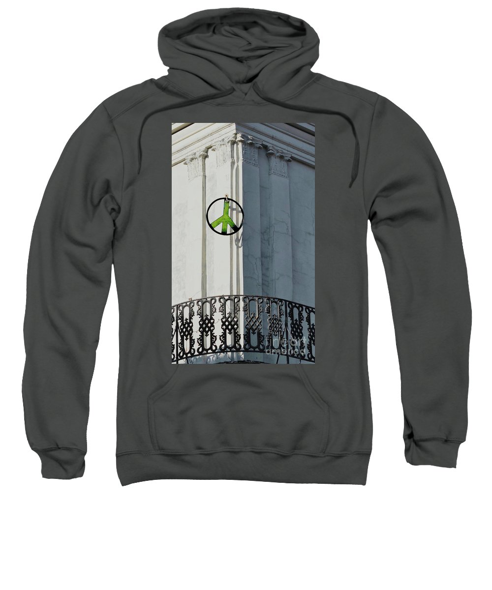Green Peace Sweatshirt featuring the photograph Green Peace by Frances Hattier