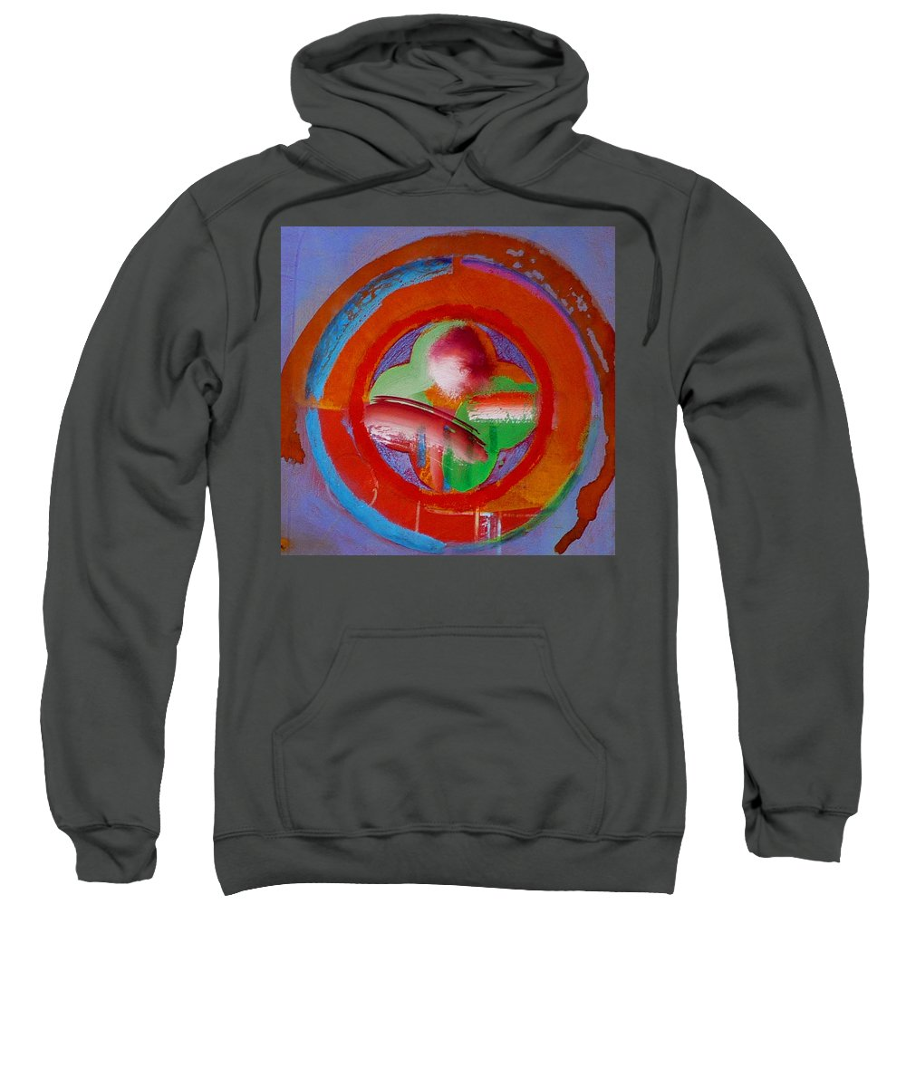 Love Sweatshirt featuring the painting Green Planet by Charles Stuart