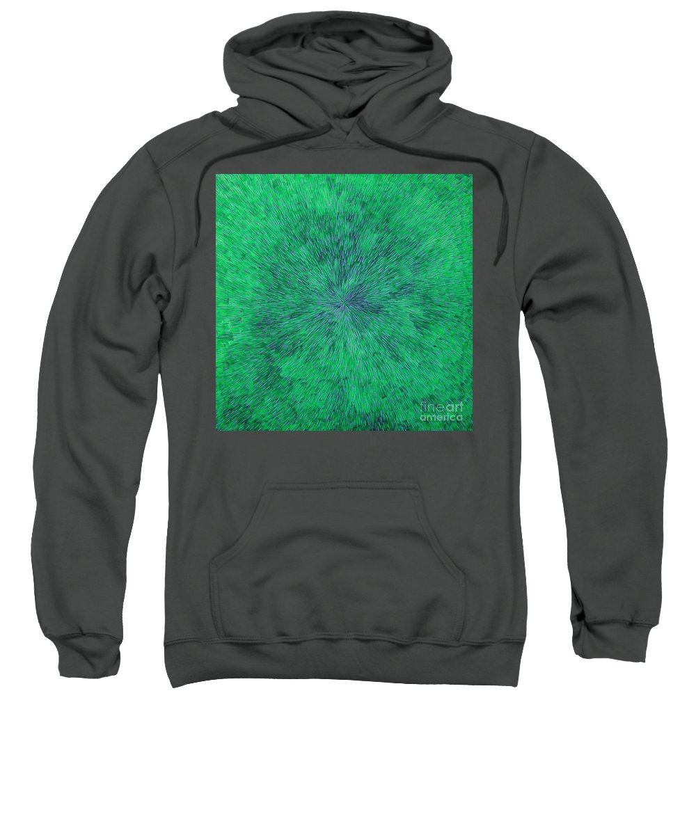 Abstract Sweatshirt featuring the painting Green Radation With Violet by Dean Triolo