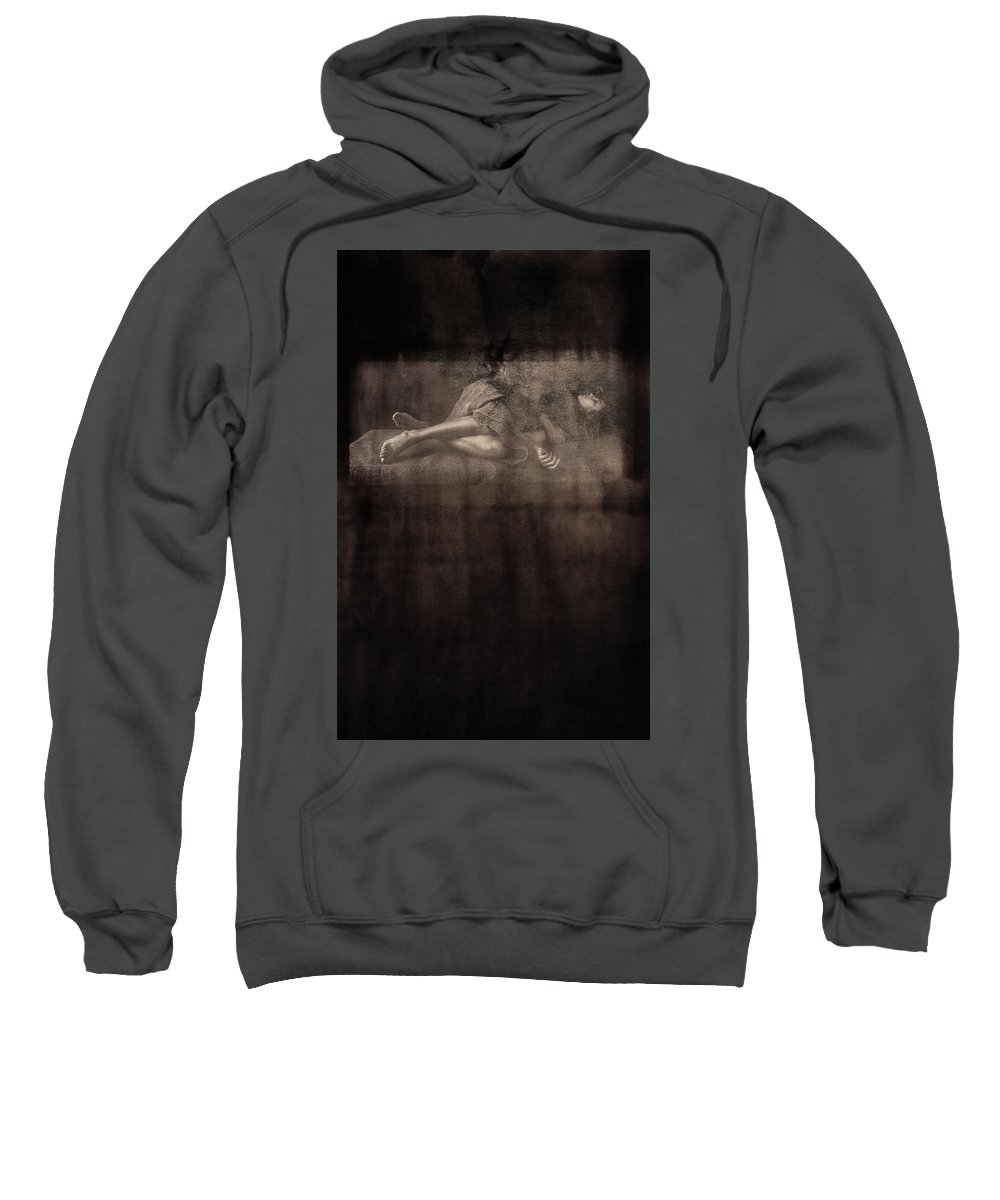 Art Sweatshirt featuring the photograph Green Room #97890a by Andrey Godyaykin
