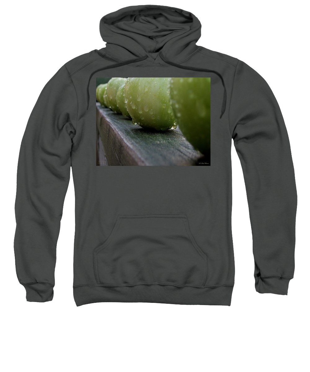 Green Tomato Sweatshirt featuring the photograph Green Tomato's by Robert Meanor