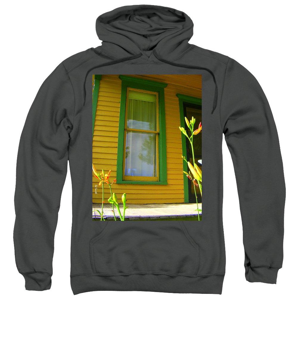 Green Window Sweatshirt featuring the photograph Green Window by Ed Smith