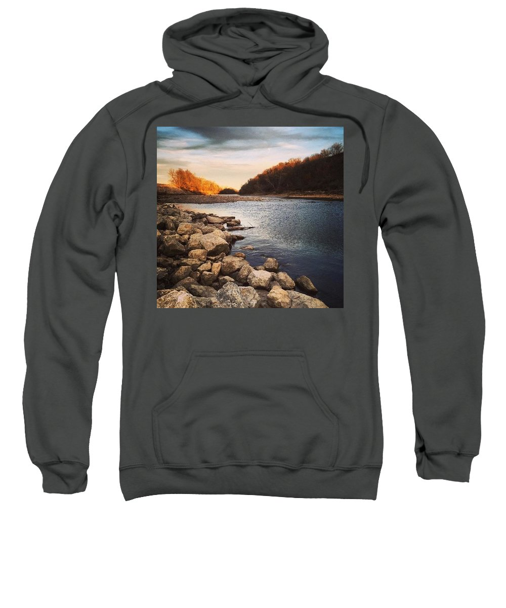 Water Sweatshirt featuring the photograph Grey Dreams by Shaylea Teel