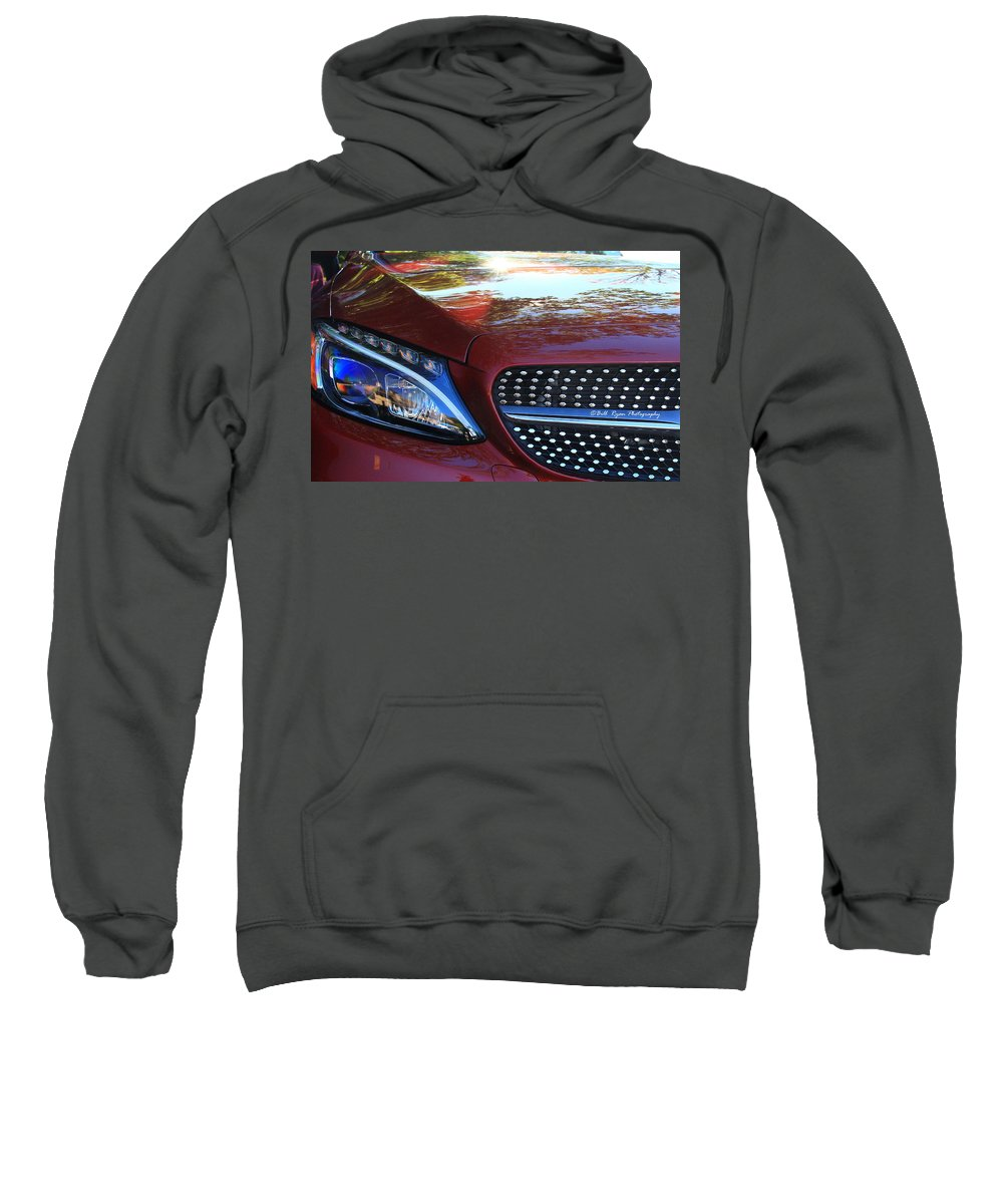 Mercedes Sweatshirt featuring the photograph Grille And Headlight by Bill Ryan