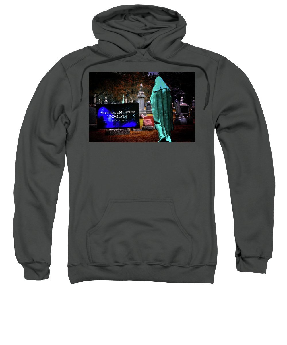 Hdr Sweatshirt featuring the photograph Grim Reaper Relaxing by Robert Storost