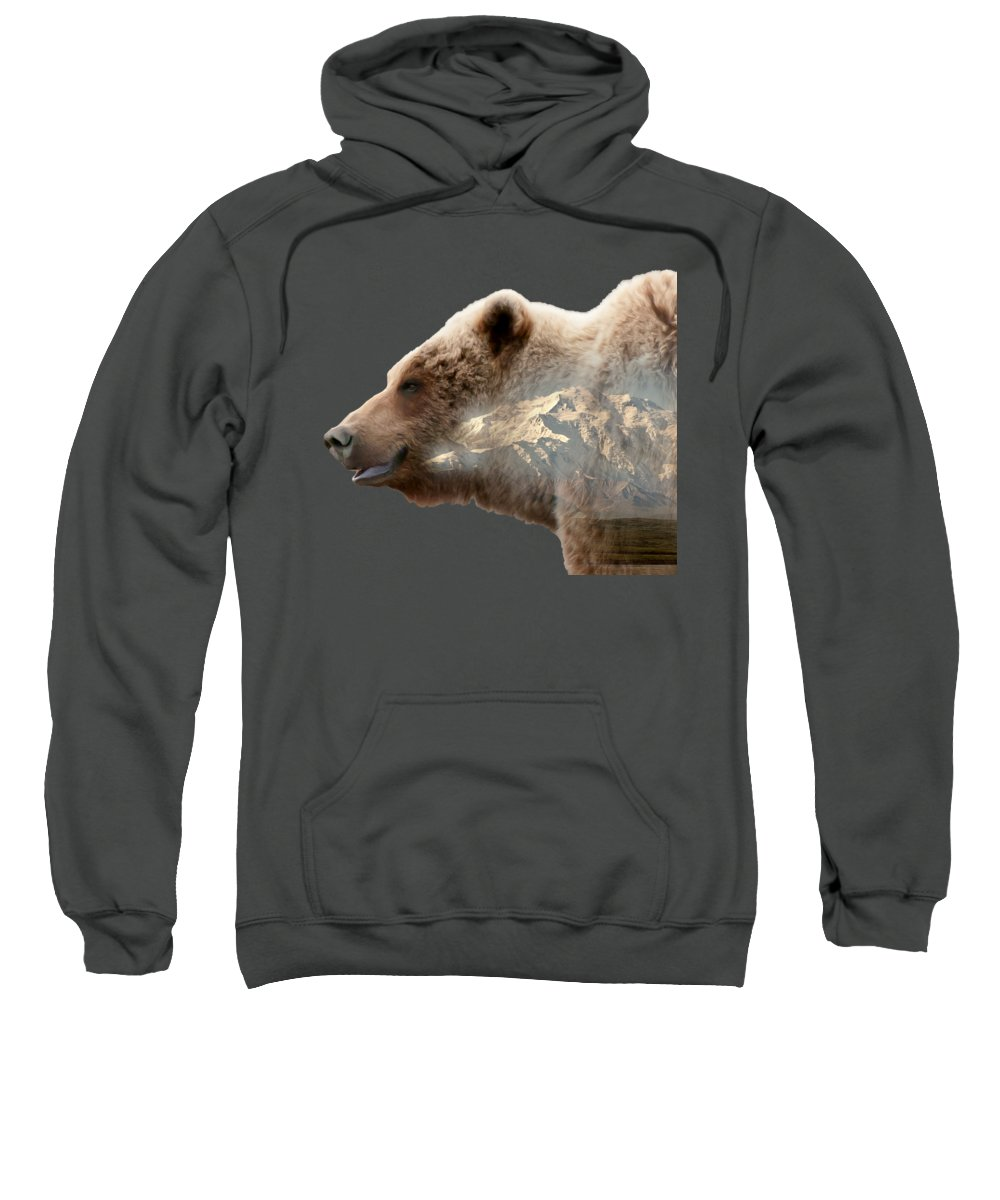 Bear Sweatshirt featuring the photograph Grizzly Bear by Gary O'Boyle