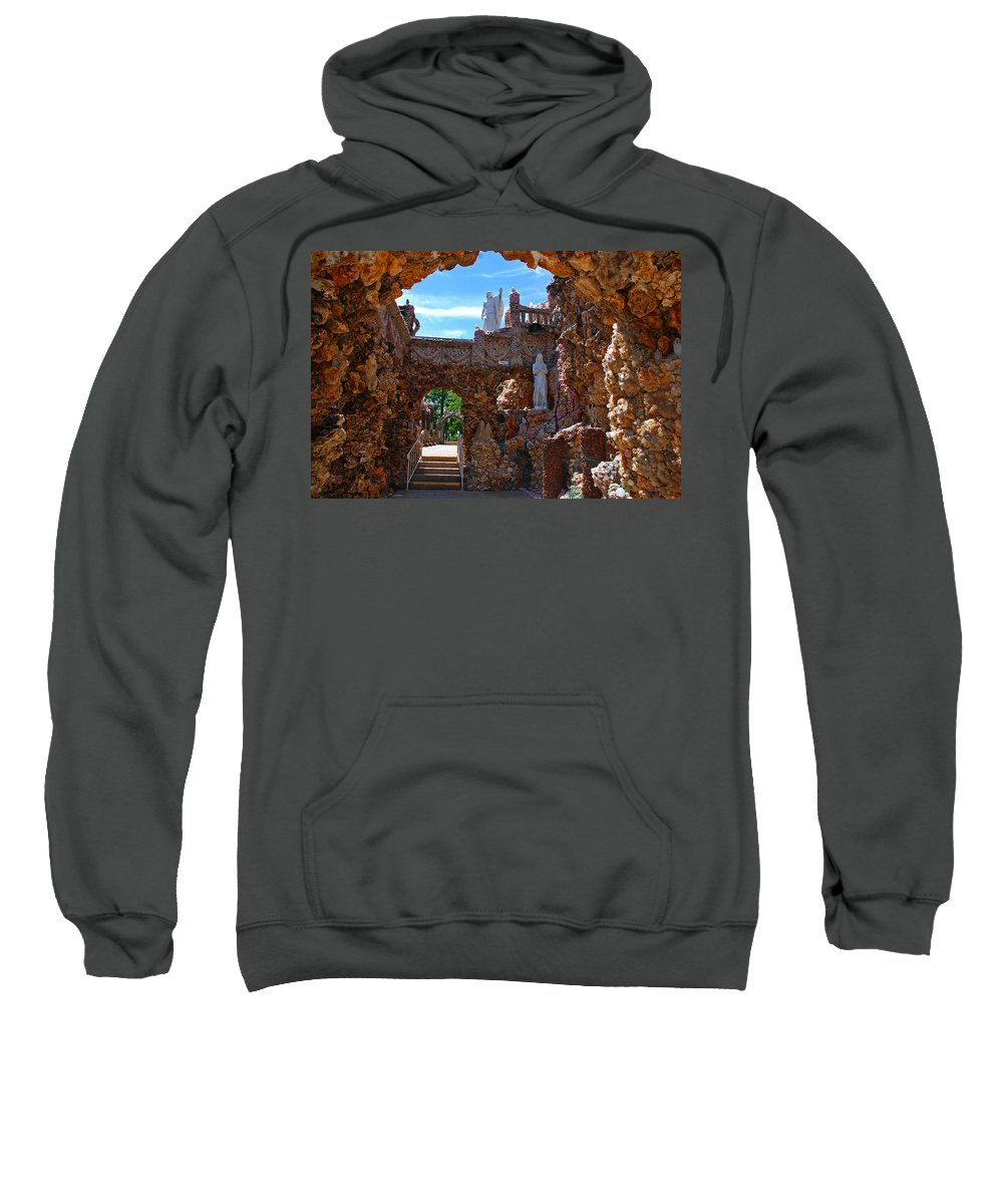 Photography Sweatshirt featuring the photograph Grotto Of Redemption In Iowa by Susanne Van Hulst