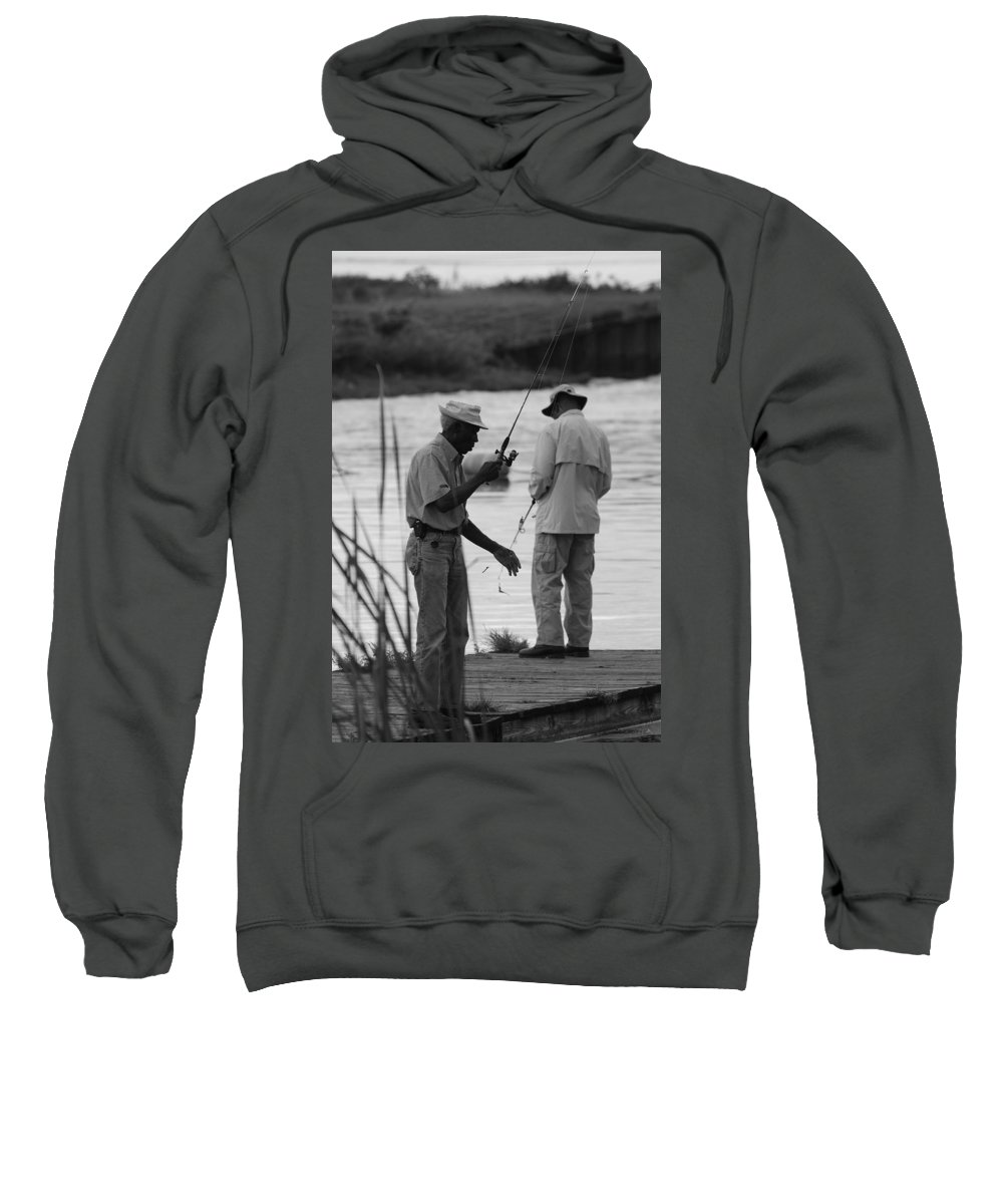 Men Sweatshirt featuring the photograph Grumpy Old Men by Rob Hans