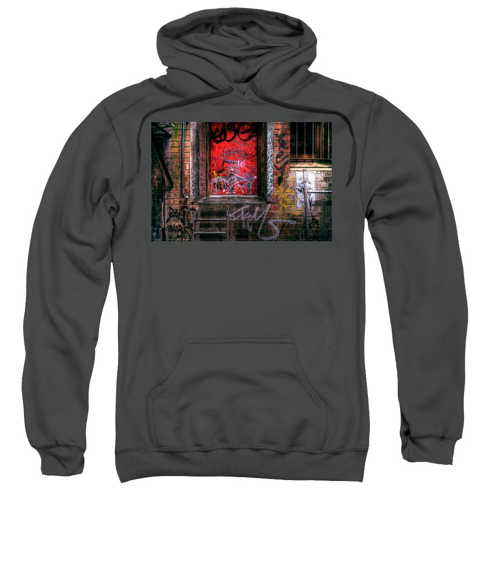 Grunge Sweatshirt featuring the photograph Grunge Junkies Unite by Wayne Sherriff