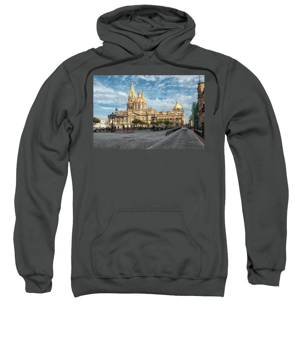 Cathedral Sweatshirt featuring the photograph Guadalajara Cathedral by Eunice Gibb