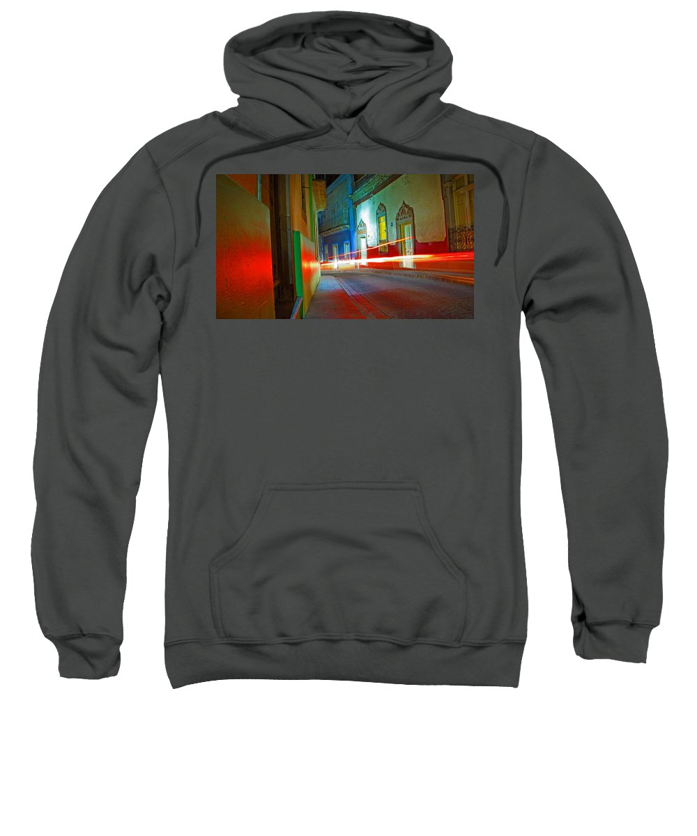 Shadow Sweatshirt featuring the photograph Guanajuato Night by Skip Hunt
