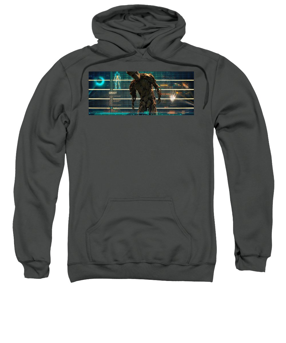 Guardians Of The Galaxy Sweatshirt featuring the digital art Guardians Of The Galaxy by Bert Mailer