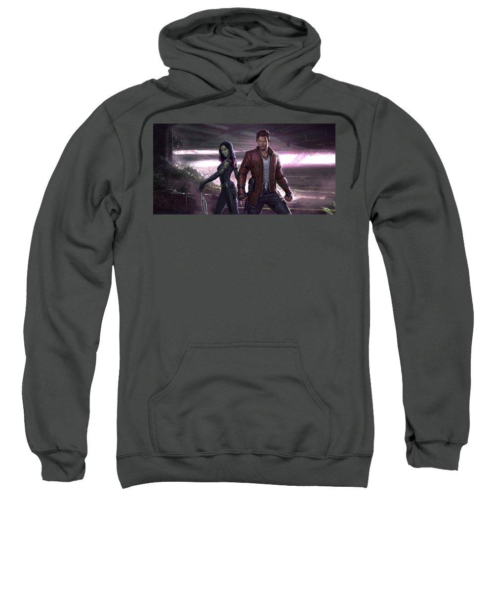 Guardians Of The Galaxy Vol. 2 Sweatshirt featuring the digital art Guardians Of The Galaxy Vol. 2 by Bert Mailer