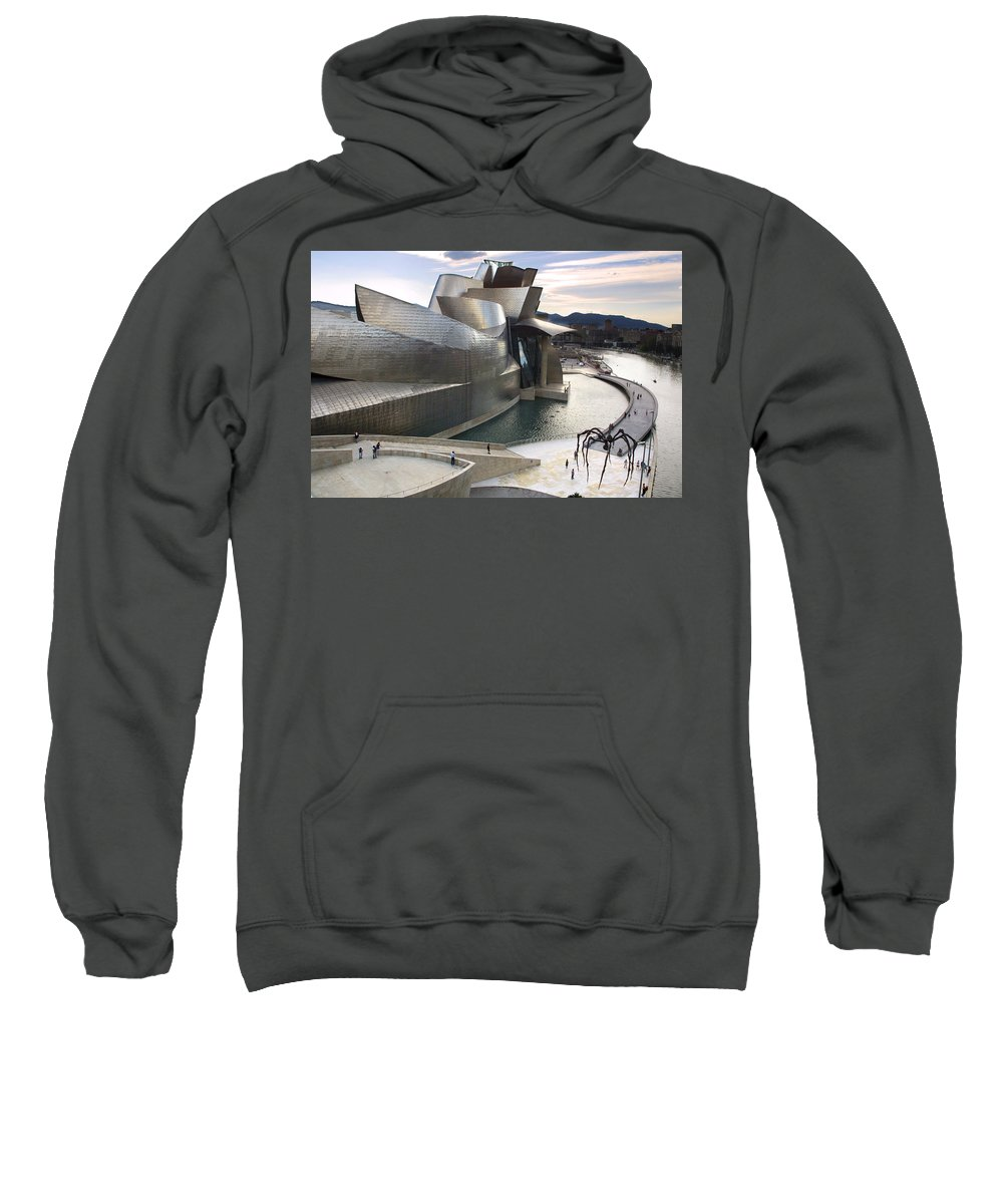 Spain Sweatshirt featuring the photograph Guggenheim Bilbao Museum by Rafa Rivas