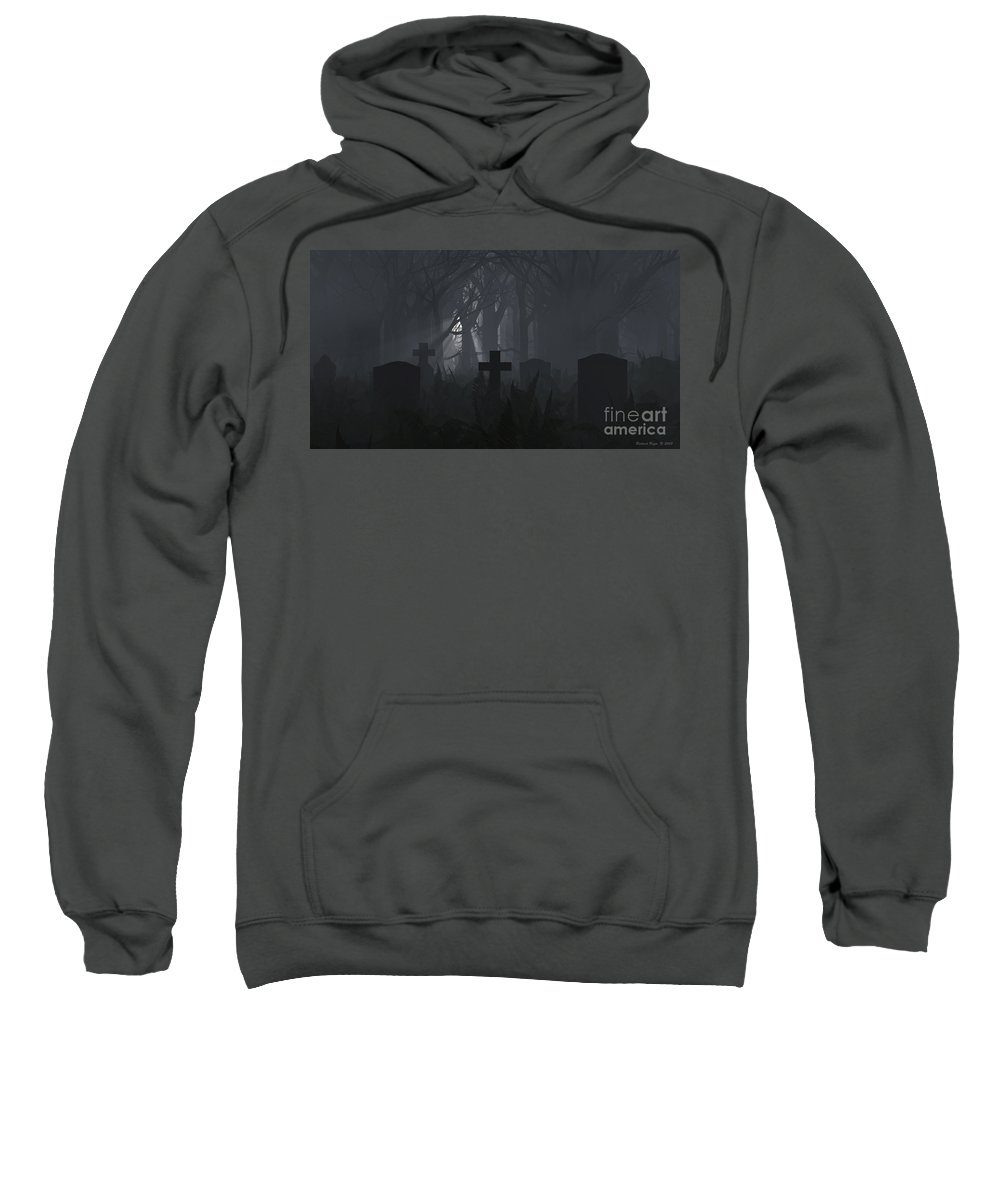 Death Sweatshirt featuring the digital art Guiding Light by Richard Rizzo