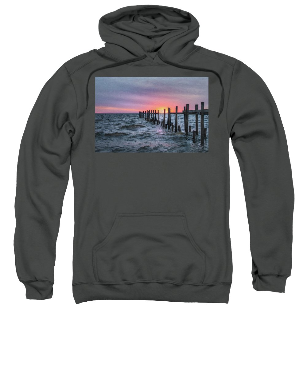 Coast Sweatshirt featuring the photograph Gulf Coast Sunrise by James Woody