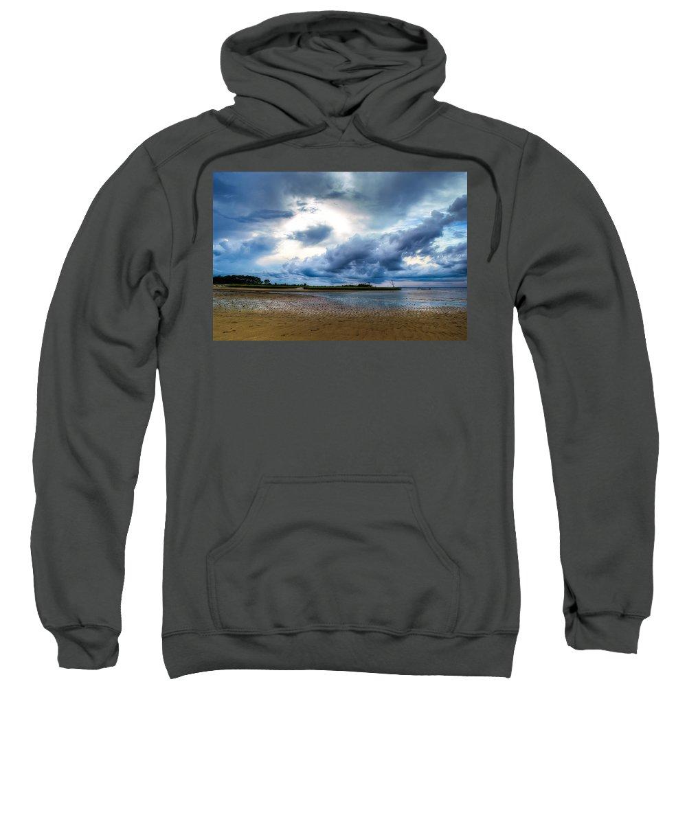 Beach Sweatshirt featuring the photograph Gulf Storm by Rich Leighton