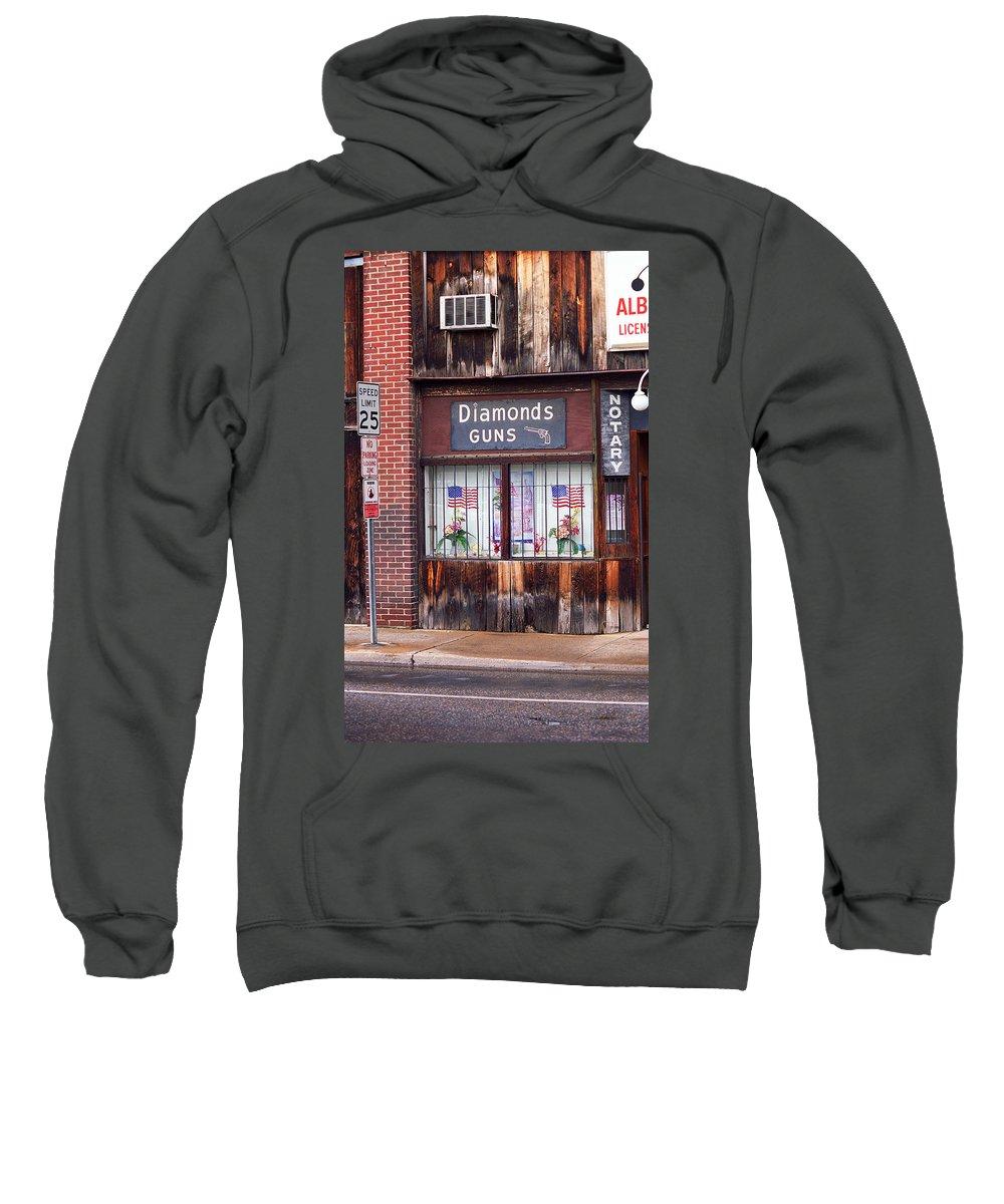 Air Sweatshirt featuring the photograph Johnson City Tennessee - Gun Shop by Frank Romeo