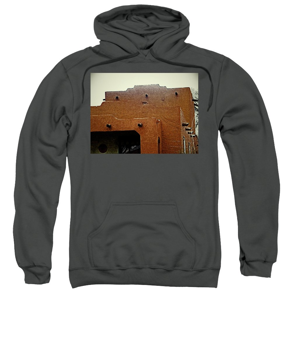 Abstract Sweatshirt featuring the digital art Hacienda 12 by Lenore Senior