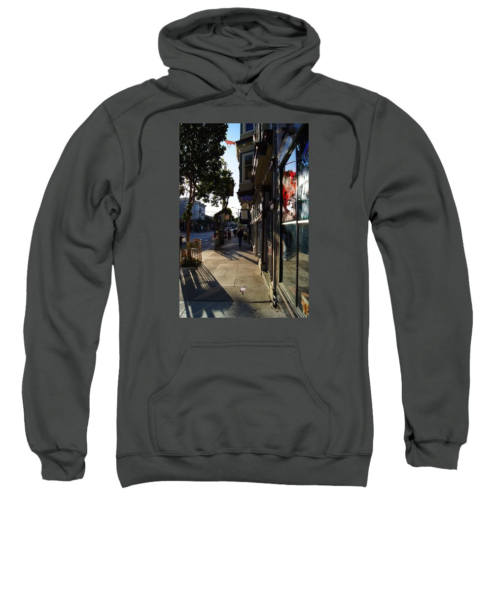 Haight Sweatshirt featuring the photograph Haight St. Near Ashbury, Sf by Paulo Roberto Ferreira
