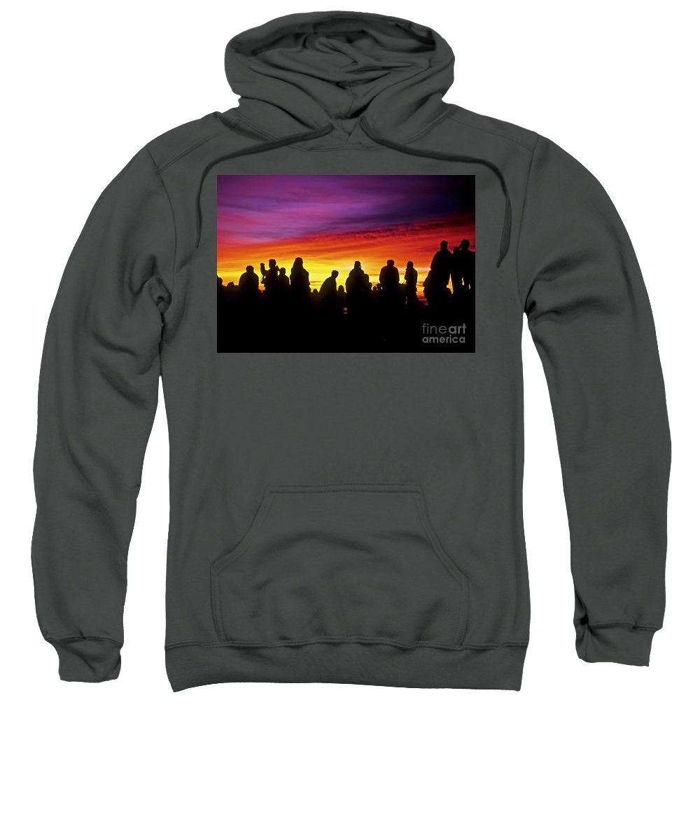 Haleakala Sunrise Sweatshirt featuring the photograph Haleakala Color Show by Jim Cazel