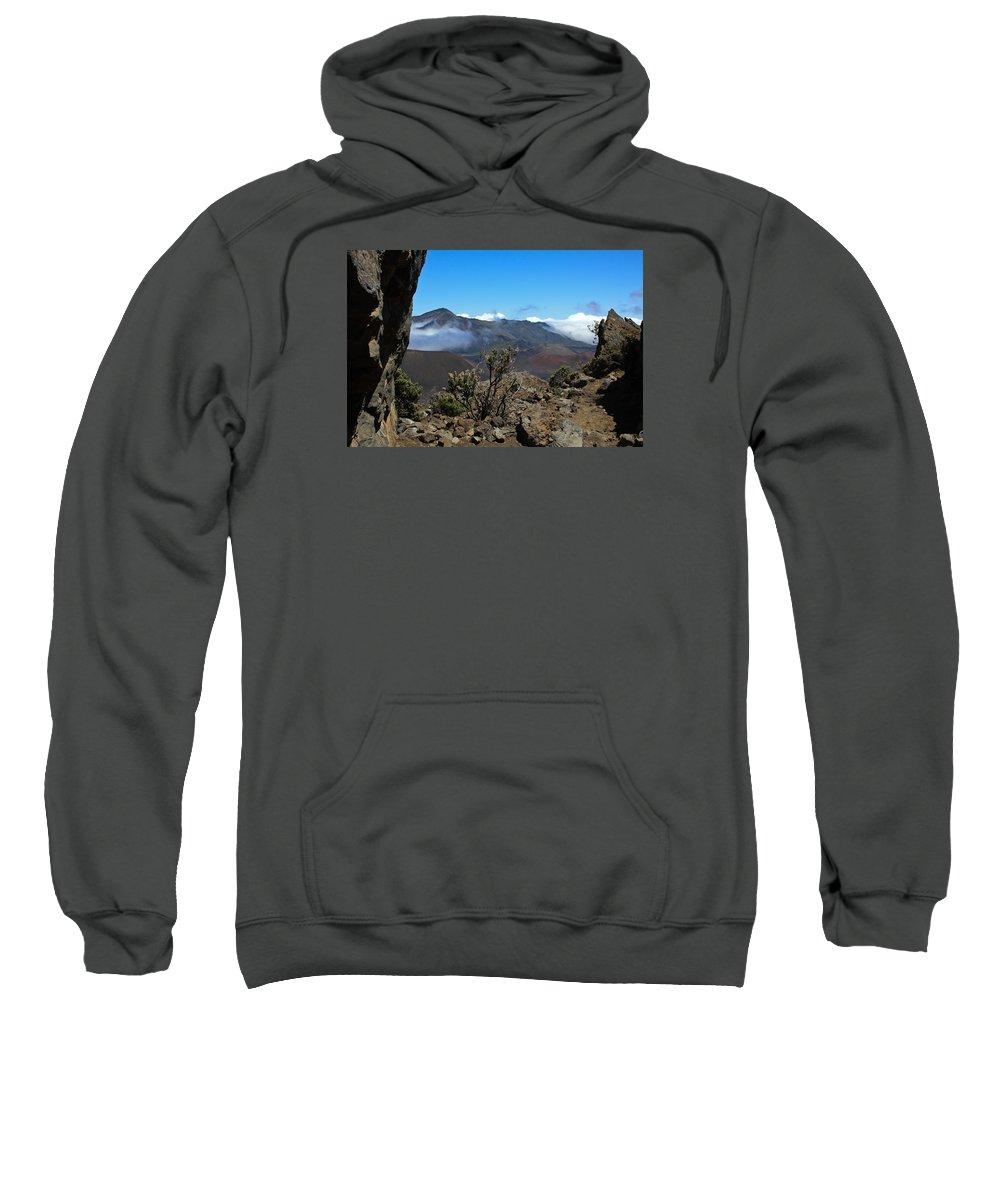 Hawaii Sweatshirt featuring the photograph Haleakala Overlook by Brenda Smith