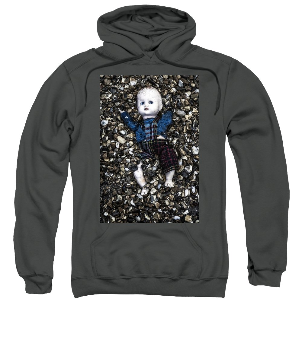 Doll Sweatshirt featuring the photograph Half Buried Doll by Joana Kruse