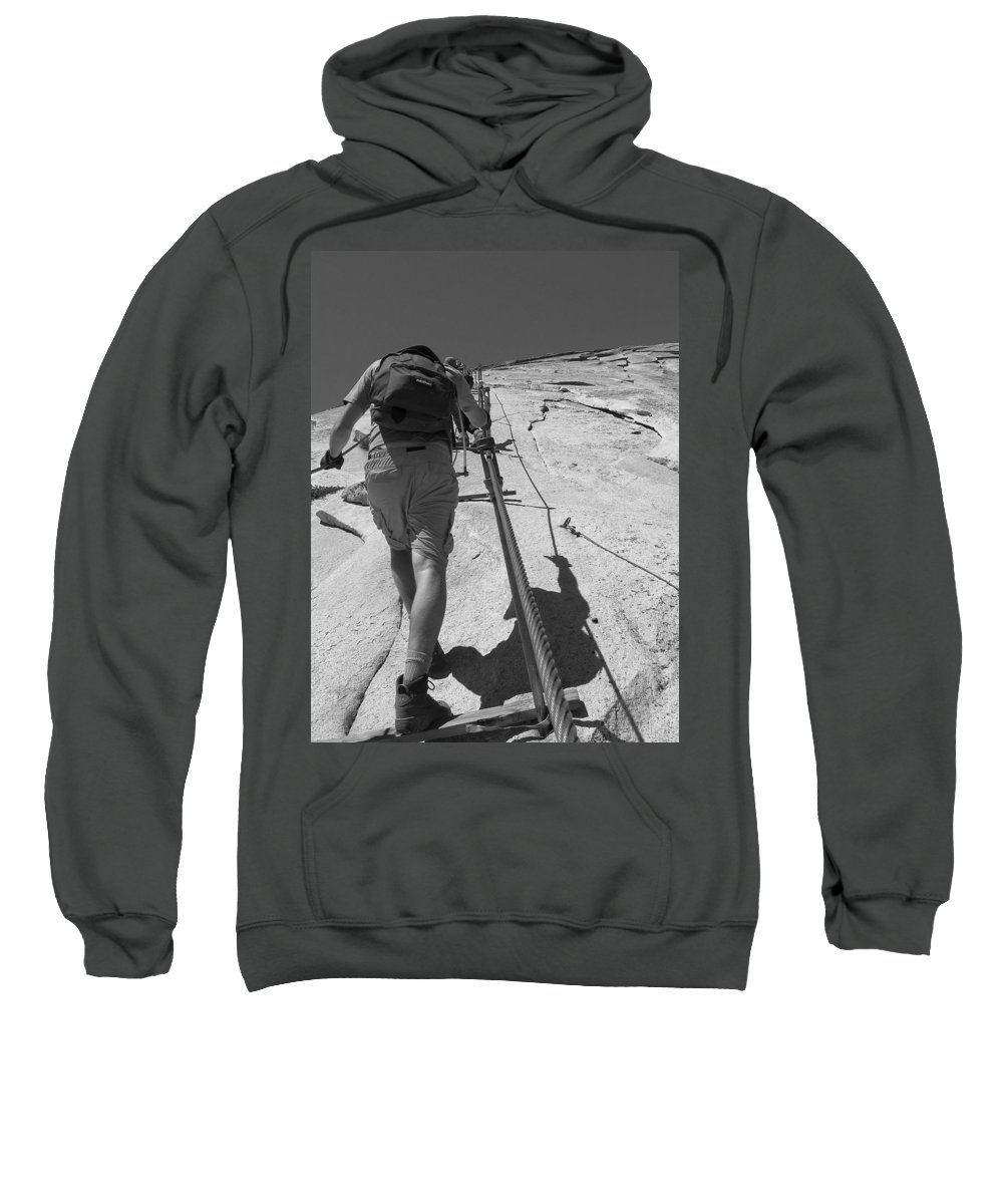 Half Dome Sweatshirt featuring the photograph Half Dome Cables by Travis Day
