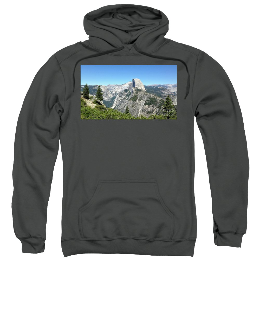 Yosemite Sweatshirt featuring the photograph Half Dome From Inspiration Point by Jeffrey Hubbard