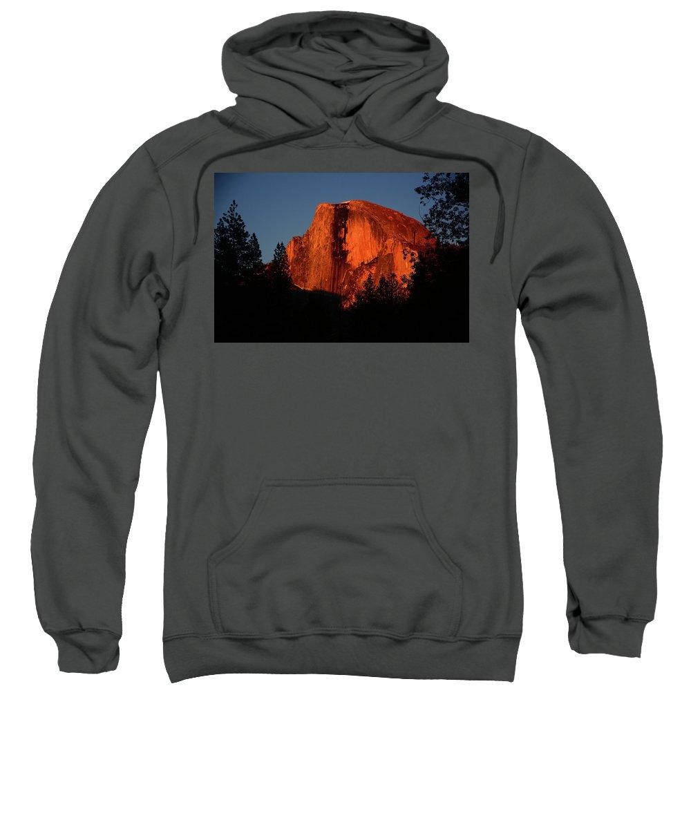 Sentinel Drive Bridge Sweatshirt featuring the photograph Half Dome From Sentinel Drive Bridge by Raymond Salani III