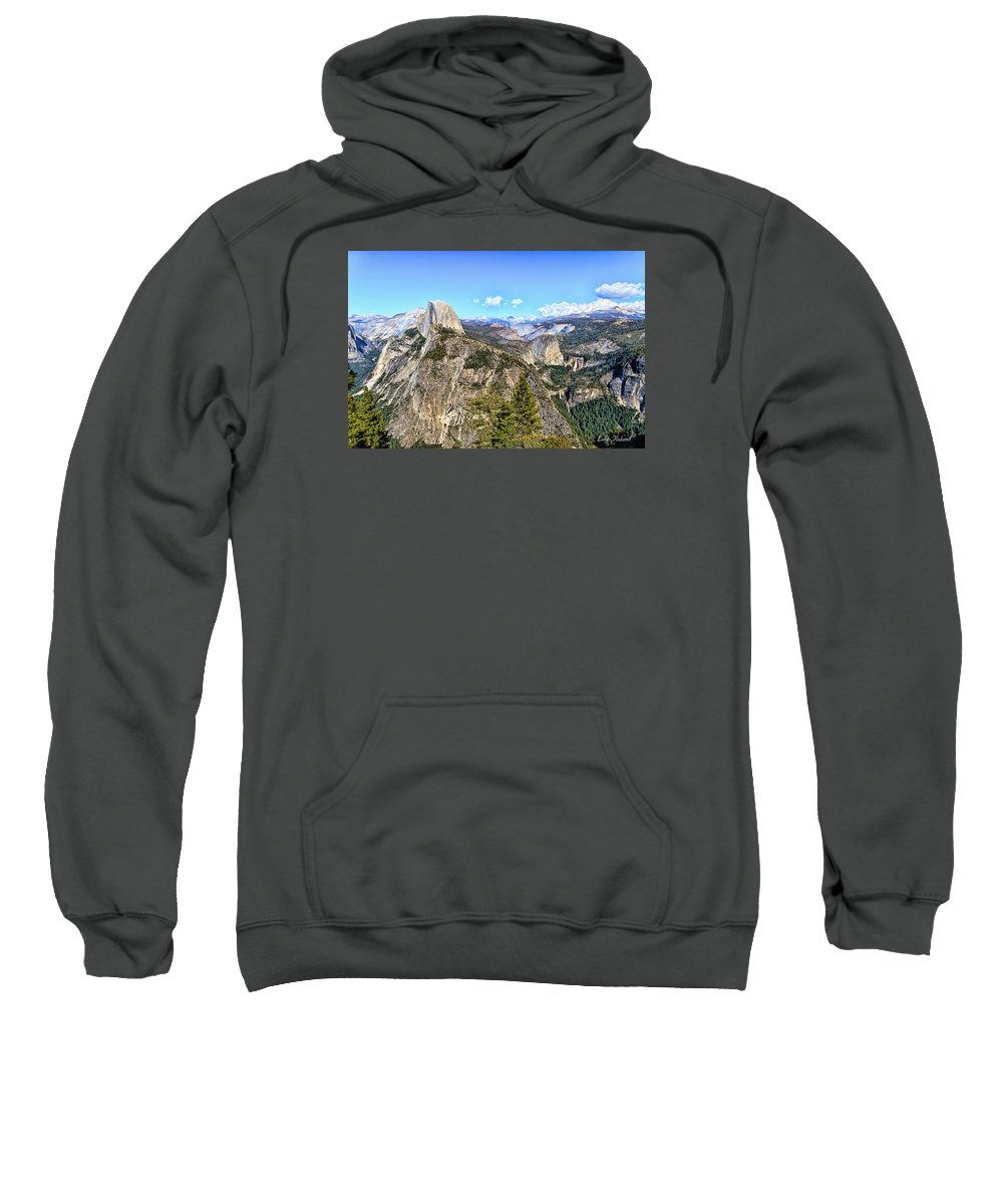 California Sweatshirt featuring the photograph Half Dome by Leon Roland