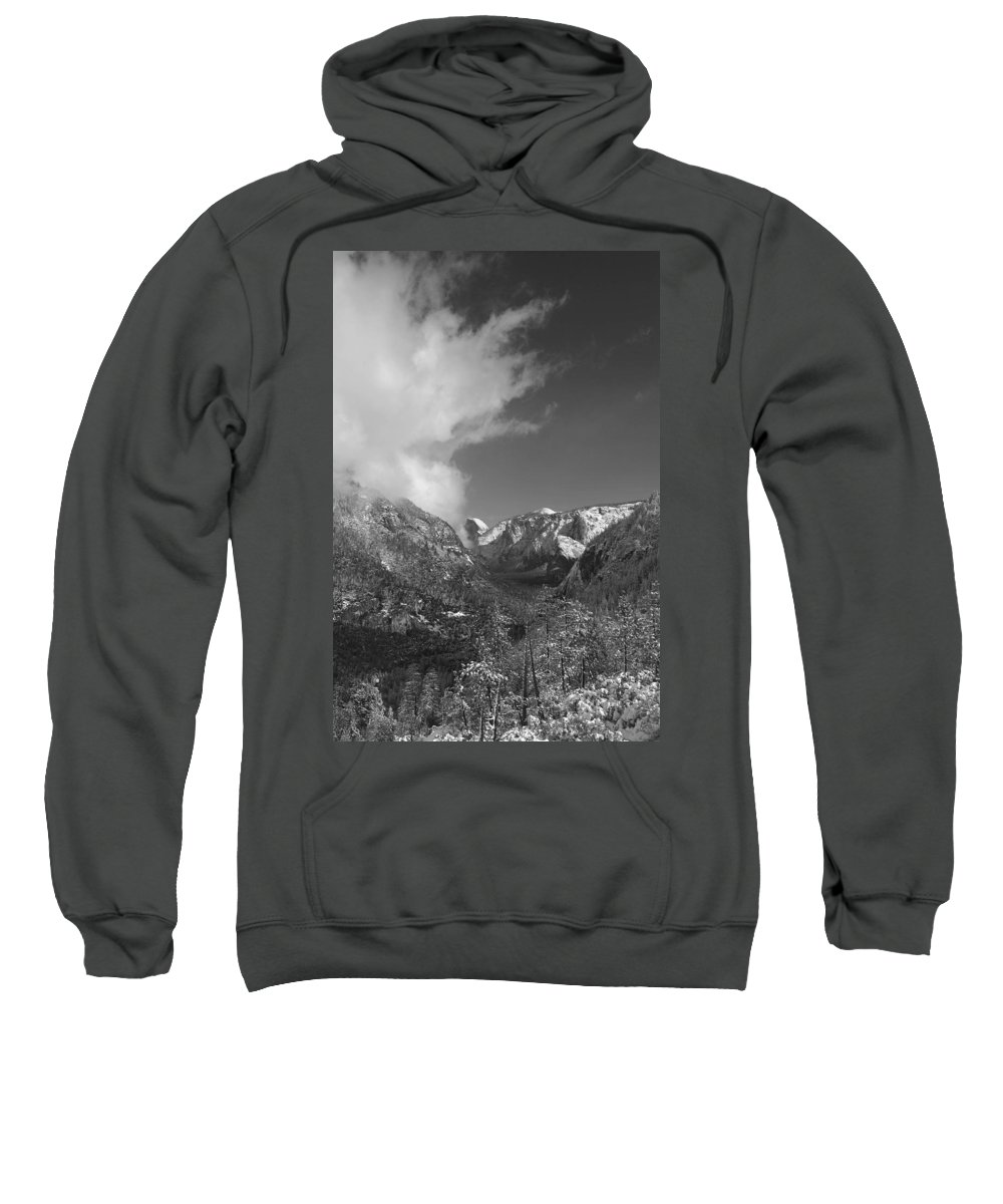 Half Dome Sweatshirt featuring the photograph Half Dome Winter by Travis Day