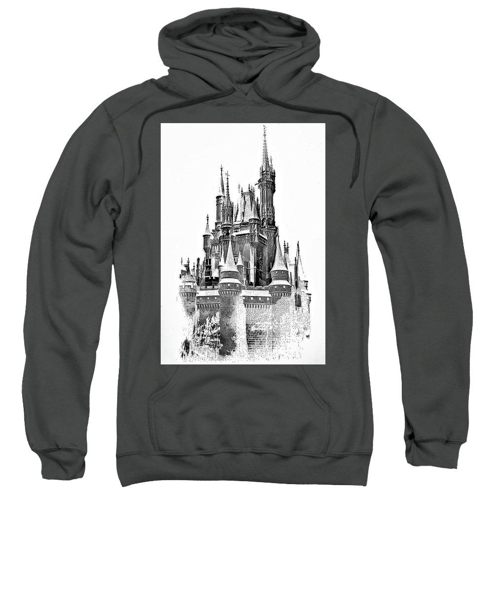 Castle Sweatshirt featuring the photograph Hall Of The Snow King Monochrome by Steve Harrington