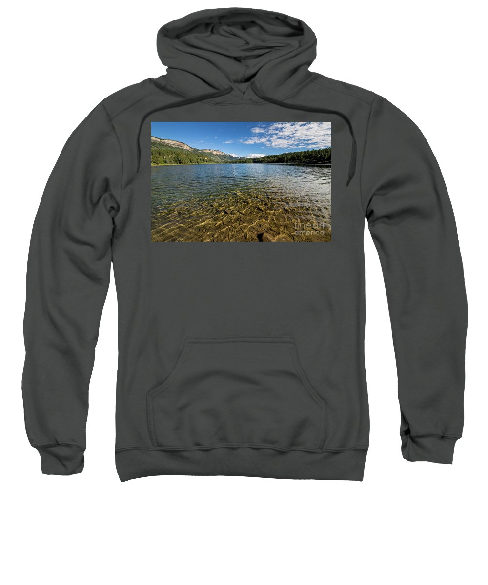Haviland Lake Sweatshirt featuring the photograph Hallet Lake by Twenty Two North Photography
