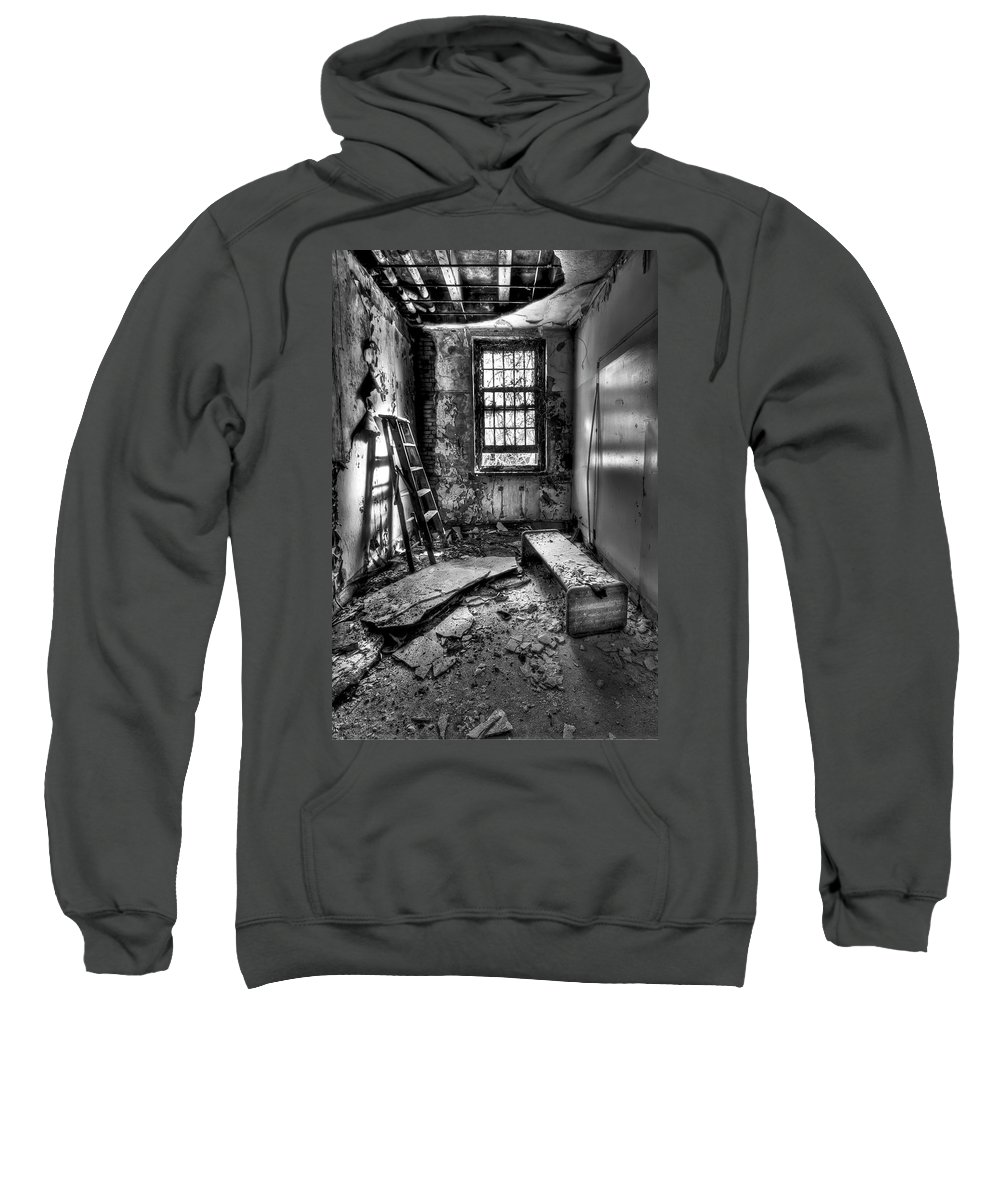 Ladder Sweatshirt featuring the photograph Hammer To Fall by Evelina Kremsdorf