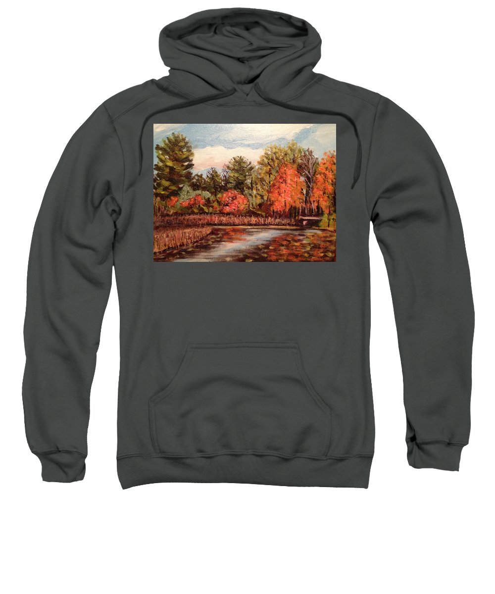 Fall Sweatshirt featuring the painting Hampton Ponds Fall by Richard Nowak