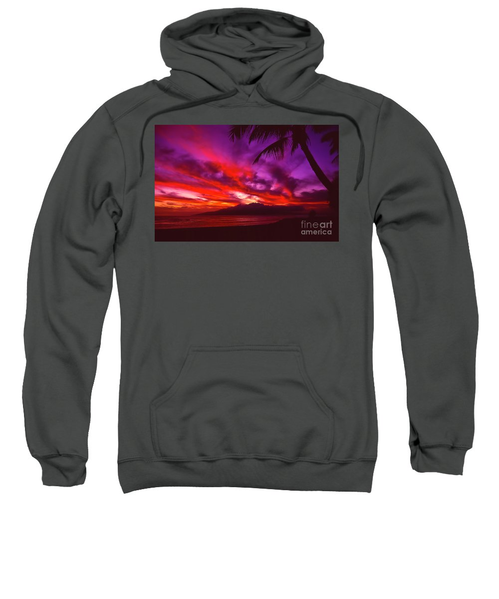 Landscapes Sweatshirt featuring the photograph Hand Of Fire by Jim Cazel