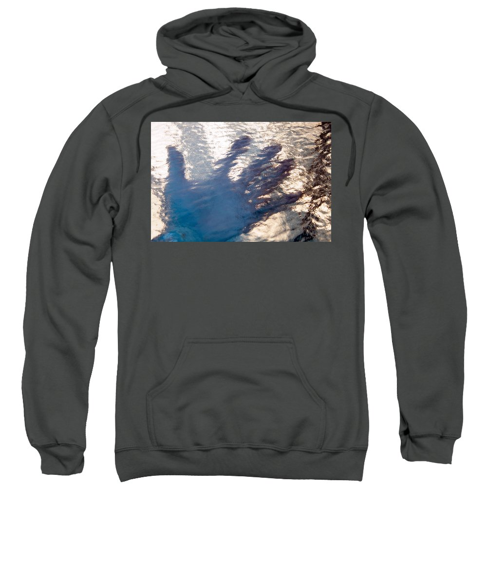 Clay Sweatshirt featuring the photograph Hand Out by Clayton Bruster