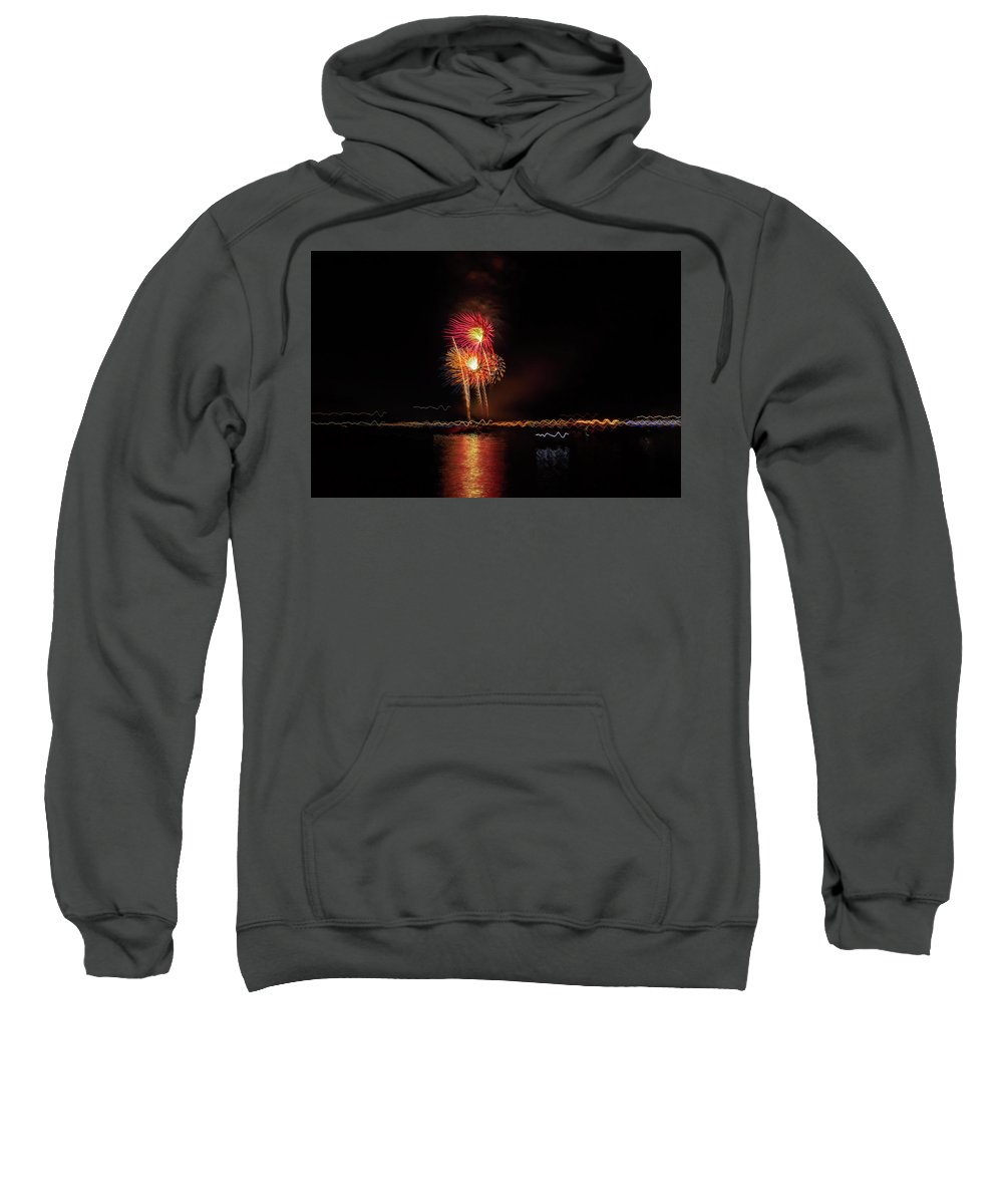 Fireworks Sweatshirt featuring the photograph Happy Birthday United States Of America 3 by Kay Brewer
