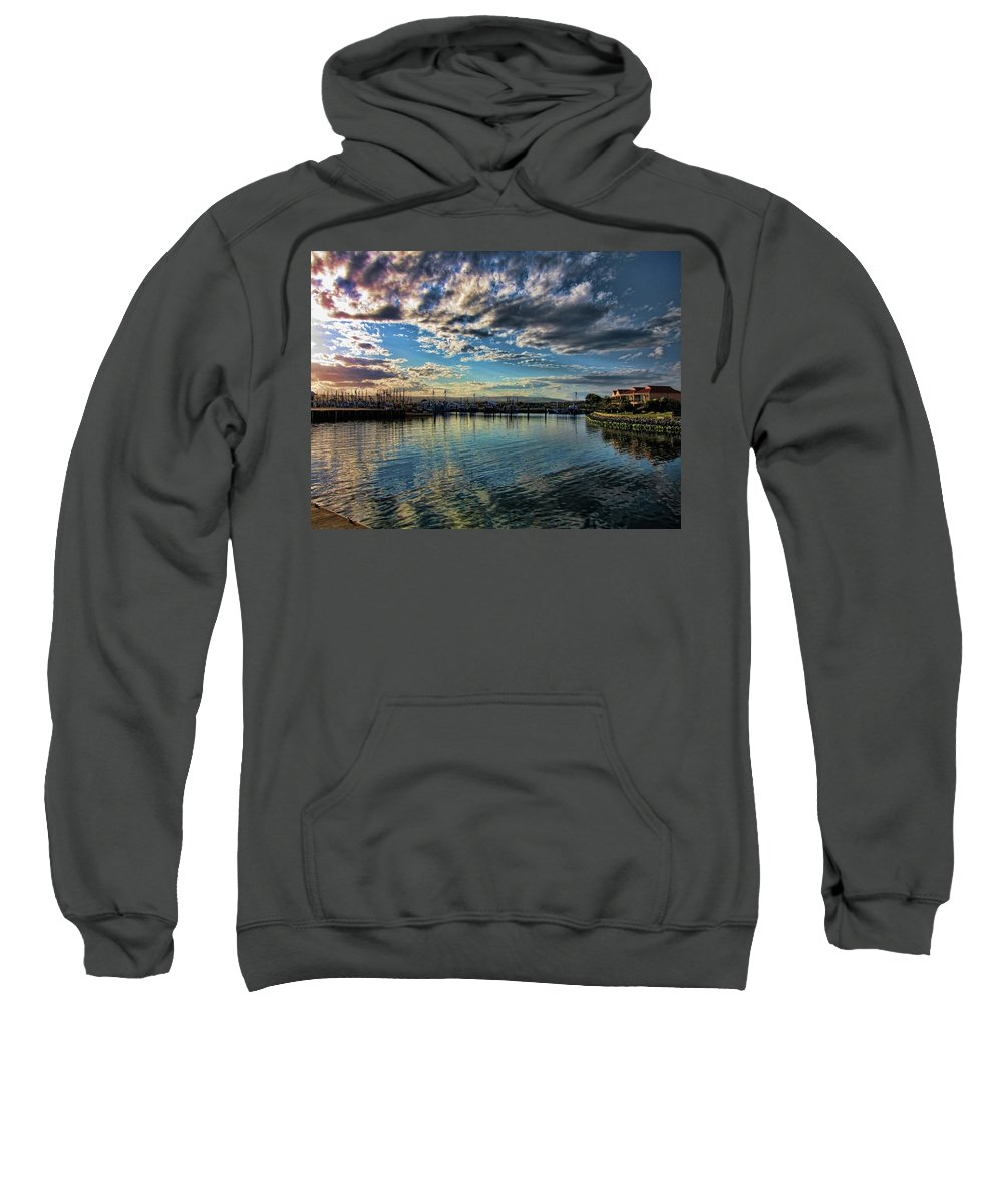 Clouds Sweatshirt featuring the photograph Harbor Delight by Douglas Barnard