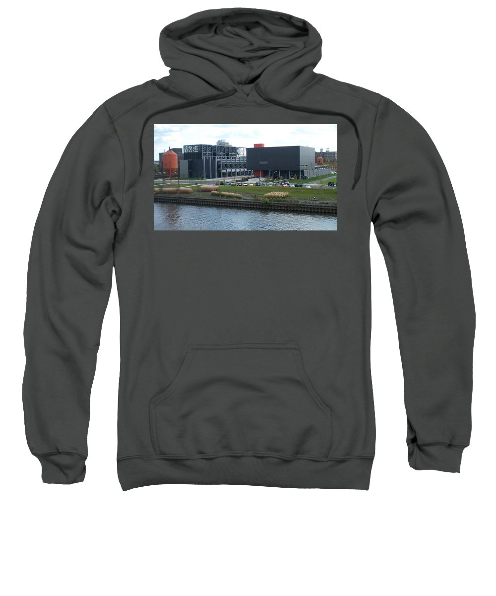 Architechture Sweatshirt featuring the photograph Harley Museum Milwaukee by Anita Burgermeister