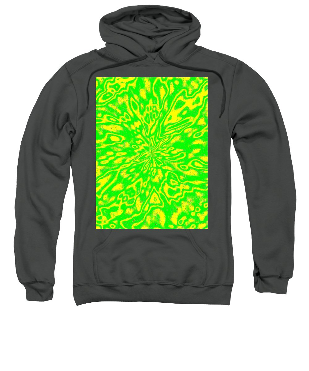 Abstract Sweatshirt featuring the digital art Harmony 16 by Will Borden