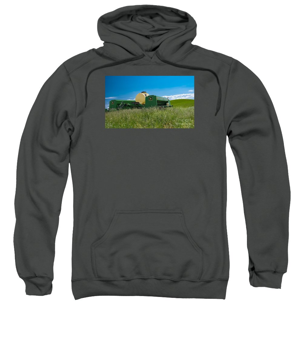Farm Sweatshirt featuring the photograph Harvest Time by Minnetta Heidbrink
