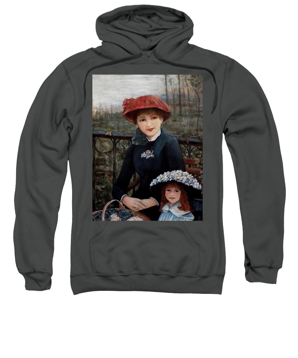 Hat Sweatshirt featuring the painting Hat Sense by Judy Kirouac