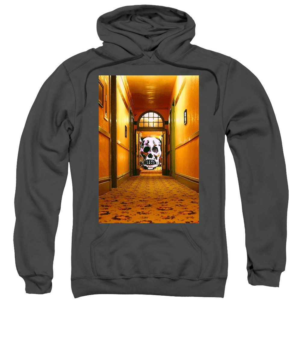 Haunted Sweatshirt featuring the photograph Haunted Hallway by Nelson Strong