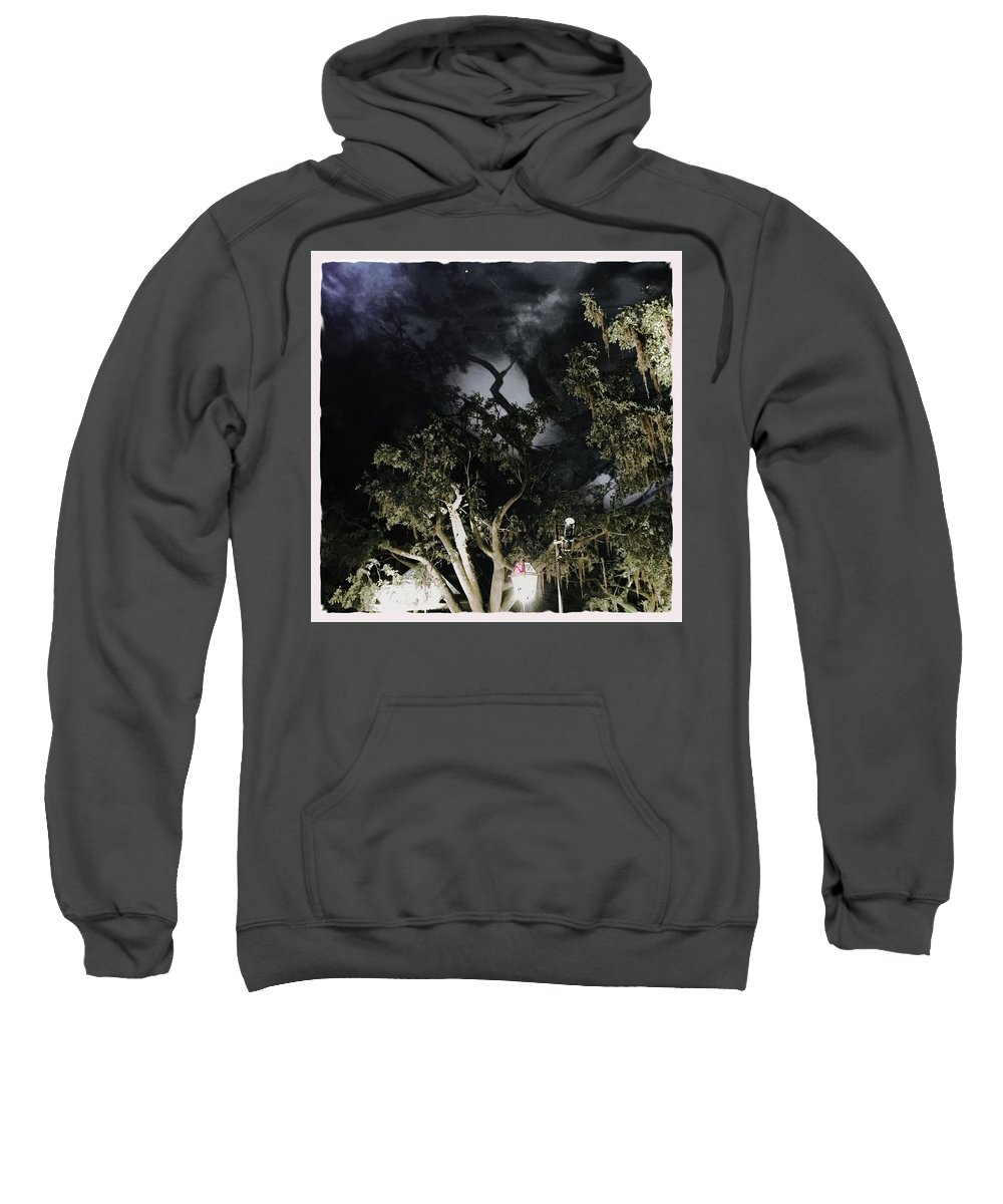 Cypress Sweatshirt featuring the photograph Haunted by Judith Kitzes