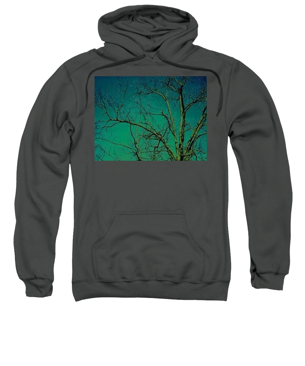 Digital Photography Sweatshirt featuring the photograph Haunting Tree by Belle T Broskie